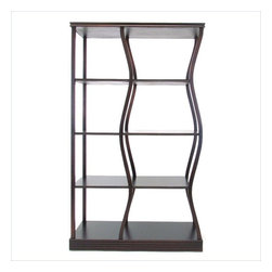 Wayborn - Wayborn Riaze Double Display in Brown - Wayborn - Bookcases - 5712