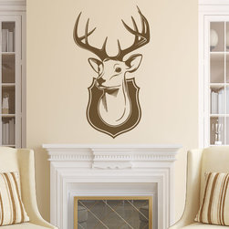 The Wall Decal Shop - Deer Head Mount Wall Decal - beautiful deer head mount vinyl wall decal