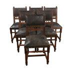 EuroLux Home - Set 6 Consigned Antique Dining Chairs French - Product Details