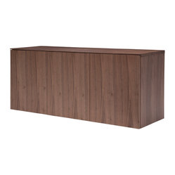 Florence Floating Console, Walnut Veneer