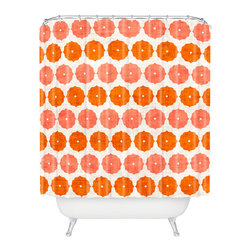 DENY Designs - Holli Zollinger Annapurna Shower Curtain - Who says bathrooms can't be fun? To get the most bang for your buck, start with an artistic, inventive shower curtain. We've got endless options that will really make your bathroom pop. Heck, your guests may start spending a little extra time in there because of it!