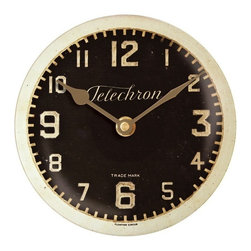 """Floating Circus - Telechron Black Clock 10"""" - Full of charm this Telechron Wall Clock is perfect for a small wall space."""