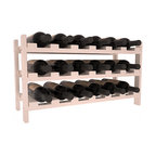 18 Bottle Stackable Wine Rack in Pine with Burgundy Stain + Satin Finish - Expansion to the next level! Stack these 18 bottle kits as high as the ceiling or place a single one on a counter top. Designed with emphasis on function and flexibility, these DIY wine racks are perfect for young collections and expert connoisseurs.