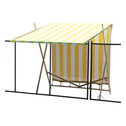 Shark Shade / Portable Shade - Shark Shade Portable Shade Blue and Yellow, Yellow and White - Lightweight go anywhere portable shade under 20 pounds