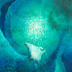 Glide - This for the Original Manta Ray Painting.