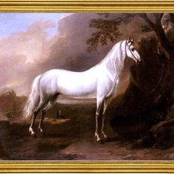 "Jan Wyck-16""x20"" Framed Canvas - Horse art"