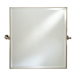 Afina - Afina Radiance Square Gear Tilt Mirror - 24 x 24 in. - RM-824-CR - Shop for Bathroom Mirrors from Hayneedle.com! The Afina Radiance Square Gear Tilt Mirror - 24W x 24H in. is a classic mirror with excellent function. Featuring a gear-style tilt mechanism the mirror tilts to match your preferences. This oval mirror installs easily and is available in your choice of finish. About AfinaAfina Corporation is a manufacturer and importer of fine bath cabinetry lighting fixtures and decorative wall mirrors. Afina products are available in an extensive palette of colors and decorative styles to reflect the trends of a new millennium. Based in Paterson N.J. Afina is committed to providing fine products that will be an integral part of your unique bath environment.