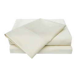 "600 Thread Count Cotton Sheet Set - California King - Ivory - These 600 thread count cotton sheets feature are available in 4 different colors. Each Set comes with a Flat sheet 102x106"", a Fitted Sheet 72x84"", and two Pillowcases 20x40""."