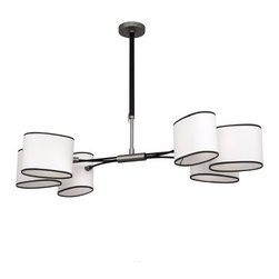 Robert Abbey Axis Oval Chandelier , Antique Nickel - Robert Abbey Axis Oval Chandelier