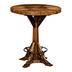 Jonathan Charles - New Jonathan Charles Bar Table Walnut Gothic - Product Details