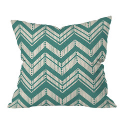 Heather Dutton Weathered Chevron Throw Pillow, 20x20x6