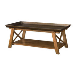 Hammary - Hammary New River Rectangular Tray Top Cocktail Table in Rustic Alder - Rectangular Tray Top Cocktail Table in Rustic Alder Belongs to New River Collection by Hammary