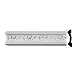 "Renovators Supply - Crown Moldings White Urethane Ornate Beacon Hill Crown Molding | 11600 - Crown Moldings: Made of virtually indestructible high-density urethane our crown molding is cast from steel molds guaranteeing the highest quality on the market. High-precision steel molds provide a higher quality pattern consistency, design clarity and overall strength and durability. Lightweight they are easily installed with no special skills. Unlike plaster or wood urethane is resistant to cracking, warping or peeling.  Factory-primed our crown molding is ready for finishing.  Measures 96""x4""."