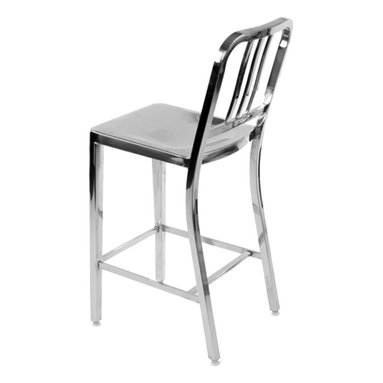 Army Stool Polished Stainless Steel - Polished Stainless steel, available in bar and counter height