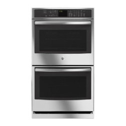"""GE Profile - PT7550SFSS 30"""" Double Oven  with Upper Convection  Designer Style Handle  and Se - Profile 30 Double Oven with Upper Convection Designer Style Handle and Self Clean with Steam Clean Option"""