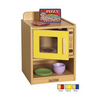 Ecr4kids - Ecr4Kids Colorful Essentials Home Kids Pretend Play Kitchen Microwave Set Red - A charming, laminate play microwave built to endure endless hours of play. rounded edges for safety and style, easy to reach shelves with plenty of room for storage of your favorite toy foods and dishes, and magnetic latches and full-length continuous piano hinges. Encourages dramatic play and social interaction in the classroom or home. Available in an easy-to-clean warm maple laminate and coordinating edgebanding with primary colored sides that match all items in the Colorful Essentials product line.