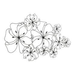 Cyan Design - Cyan Design Six Flower Fancy Wall Art - Cyan Design Six Flower Fancy Wall Art X-33850
