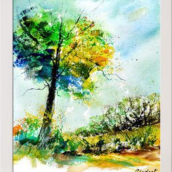 overstockArt.com - Ledent - Watercolor 114062 Oil Painting - Watercolor 114062 is a canvas print of a colorful Ledent painting of trees and landscape. Originally watercolor size 12,2 x 16,1 inches. Pol Ledent was born in 1952 in Belgium. He came to painting in 1989. He started with watercolor but felt rapidly that oil painting would match his way of being. He is a self-taught painter. Nevertheless he took some drawing lessons in a Belgian academy. After taking part into numerous group exhibitions, some galleries in Belgium proposed to him to exhibit his works. Dinant, Bouillon, Brussels , Paris and Moscow in October 2006.