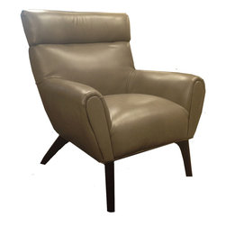 Armen Living - Laguna Chair in Smoked Bonded Leather - This elegant accent chair can own the show from center stage or play together harmonically with others as you mix and match in melodic synchronicity.