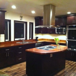 Dark Brown Kitchen Cabinets | Tribecca Door Style | Kitchen Cabinet Kings -
