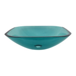 Kingston Brass - Green Tempered Glass Vessel Bathroom Sink without Overflow Hole EVSQFG4 - As the popularity of glass vessel sinks has grown, so has the number of beautifully hand-crafted products that practically demand exhibition. Glass vessel sinks can be displayed for their beauty as well as their functionality.Manufacturer: Kingston BrassModel: EVSQFG4UPC: 663370084690Product Name: Green Tempered Glass Vessel Bathroom Sink without Overflow HoleCollection / Series: TempletonFinish: GreenTheme: Contemporary / ModernMaterial: Tempered GlassType: SinkFeatures: High chemical and thermal shock resistance