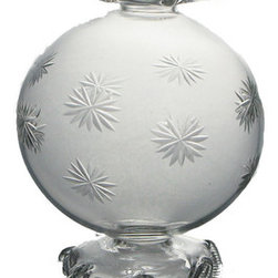 Etched Ball Ornament - Etched snowflakes drift across blown glass in this beautiful, keepsake ornament. Imagine the anticipation of unwrapping them year after year to create your signature holiday look. Handmade with the highest quality materials in Egypt, you can look forward to passing them down for generations as they become a treasured family heirloom.