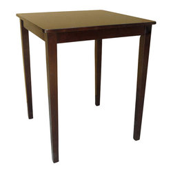 International Concepts - International Concepts Shaker Counter Height Table in Rich Mocha - International Concepts - Dining Tables - T153030GS - This shaker styled table's classic design can fit into the d��cor any classic kitchen or dining room.