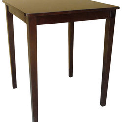 International Concepts Shaker Counter Height Table in Rich Mocha