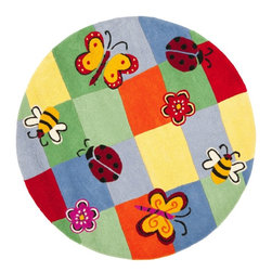 Safavieh - Kids Safavieh Kids Round 4' Round Multi Color Area Rug - The Safavieh Kids area rug Collection offers an affordable assortment of Kids stylings. Safavieh Kids features a blend of natural Multi Color color. Hand Tufted of Wool the Safavieh Kids Collection is an intriguing compliment to any decor.
