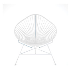 Baby Acapulco Chair, White Frame With White Weave