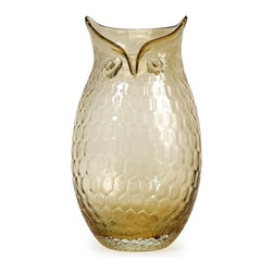 IMAX CORPORATION - Ambra Large Glass Owl Vase - This unique glass owl vase would make an excellent gift idea and a perfect addition to any collection. Find home furnishings, decor, and accessories from Posh Urban Furnishings. Beautiful, stylish furniture and decor that will brighten your home instantly. Shop modern, traditional, vintage, and world designs.