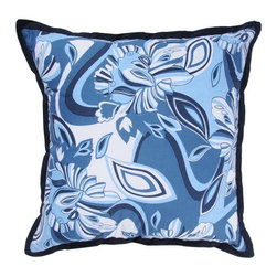 Rizzy Home - Blue and White Decorative Accent Pillows (Set of 2) - T03176 - Set of 2 Pillows.