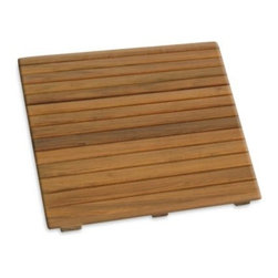 Waterbrands - Waterbrands SeaTeak Small Shower Mat - Solid teak shower mat is ideal for outdoor or indoor showers. It's also the stylish solution for dockside, boat, poolside, spa or even a door front or garden.
