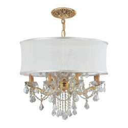 Crystorama Lighting - Crystorama Lighting 4489-GD-SMW-CLM Brentwood Traditional Chandelier in Gold - Crystorama Lighting 4489-GD-SMW-CLM Brentwood Traditional Chandelier In Gold