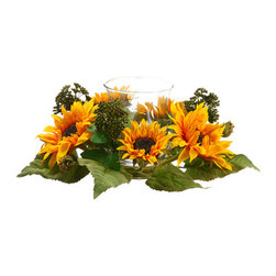 Silk Plants Direct - Silk Plants Direct Sunflower Centerpiece (Pack of 4) - Pack of 4. Silk Plants Direct specializes in manufacturing, design and supply of the most life-like, premium quality artificial plants, trees, flowers, arrangements, topiaries and containers for home, office and commercial use. Our Sunflower Centerpiece includes the following: