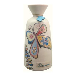 "WL - 7 Inch ""Dreams"" Painted Butterfly Vase Collectible Decoration Statue - This gorgeous 7 Inch ""Dreams"" Painted Butterfly Vase Collectible Decoration Statue has the finest details and highest quality you will find anywhere! 7 Inch ""Dreams"" Painted Butterfly Vase Collectible Decoration Statue is truly remarkable."