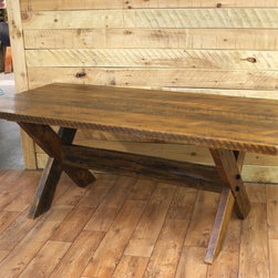 Reclaimed Wood Dining Room Tables - Reclaimed white pine X table