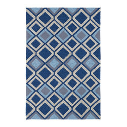 None - Indoor/ Outdoor Fiesta Moroccan Blue Rug (7'6 x 9') - This Fiesta rug is luxurious and perfectly durable for indoor or outdoor use. Tightly woven polypropylene yarn and a non-skid backing combine with UV protection and mildew resistance to make this rug a wonderful addition to your home decor.
