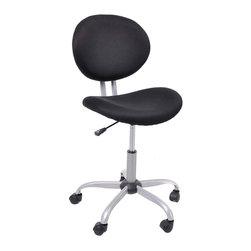 Black Simple Swivel Chairs - Product Description: