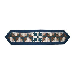 Patch Magic - Bear Creek Small Table Runner - 16 in. W x 54 in. LHandmade, Hand quilted Table Runner made from 100% Cotton. Machine washable, but for best care hand wash in cold water. Do not machine dry. Do not dry clean.