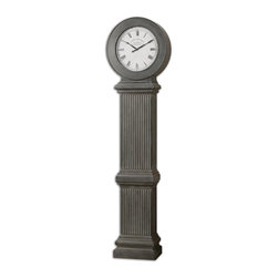 "Uttermost - Chouteau Floor Clock - Grand and stately, this clock immediately makes its presence known. It will become the focal point of your living room, hallway or entryway. Of course, you'll have to resort to the old way of telling time by saying in your best British accent, ""It is now ten past the hour."""