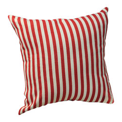 Winward Designs - Alicia Print Pillow - Our decorative striped Alicia print pillow is perfect for any nautical occasion. Place it among other reds, blues, or whites. Pillow comes with filling and zipper closure.