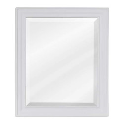 Elements - Elements Douglas Bath Mirror, White Frame 20 Inch x 1 Inch x 24 Inch - 20 Inch x 24 Inch White mirror with beveled glass Finished in Painted White (finish applied by hand) BR>Coordinating Vanities: VAN094 NT VAN094 T MW VAN094 30 NT VAN094 30 T MW VAN094D 60 NT VAN094D 60 T MW