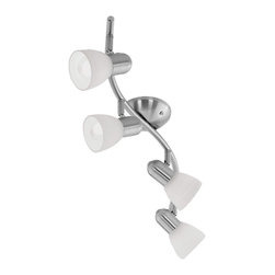 Eglo Lighting - Eglo Lighting 88474A Dakar 4 Light Spot Lights in Matte Nickel - Matte Nickel 4x60W Wall/Ceiling Light