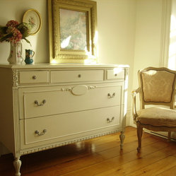 My Paris Aparment Furniture Makeover ~ Refurbished Neoclassical Style Dresser