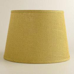 Green Burlap Table Lamp Shade -