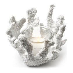 White Coral Tealight Holder - White Coral Tealight Holder available at www.GentleBath.com