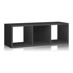 Way Basics - Way Basics 3 Cubby Storage Bench, Black - This modern storage unit will hold all your stuff in style — and is easy on the environment to boot. It's sustainably made from recycled paper and uses paper dowels to hold the pieces together. But fear not. It's water resistant, holds up to 50 pounds and is super easy to put together. Stash your books, boots, games and sports equipment underneath, and there's still room on top for more. Or stack two units together if your cubes runneth over.