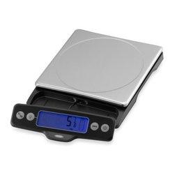 Oxo - OXO Good Grips 11-LB. Food Scale - Scale with a 11-pound capacity will make measuring your food an easy feat. Unit has a display that pulls away from the base to prevent shadowing from large plates or bowls and a convenient indicator to display how much capacity is left on the scale.