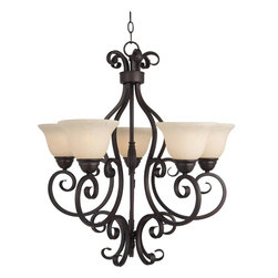 Maxim Lighting - Maxim Lighting Manor 1 Tier Chandelier in Oil Rubbed Bronze - Shown in picture: This decorative classic in Oil Rubbed Bronze finish is both dramatic and subtle - with or without shades.